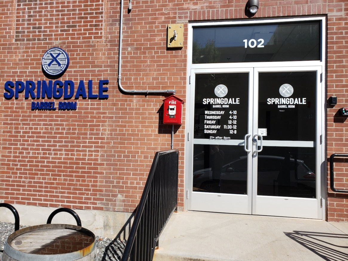 Springdale Barrel Room Ryan Brawn