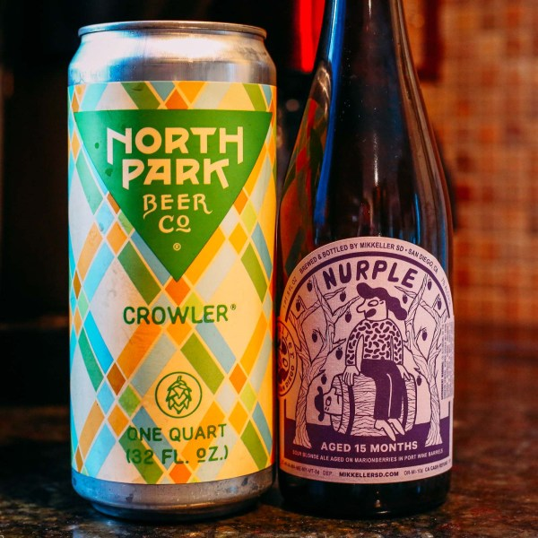 Beers from Mikkeller San Diego and North Park Beer Co