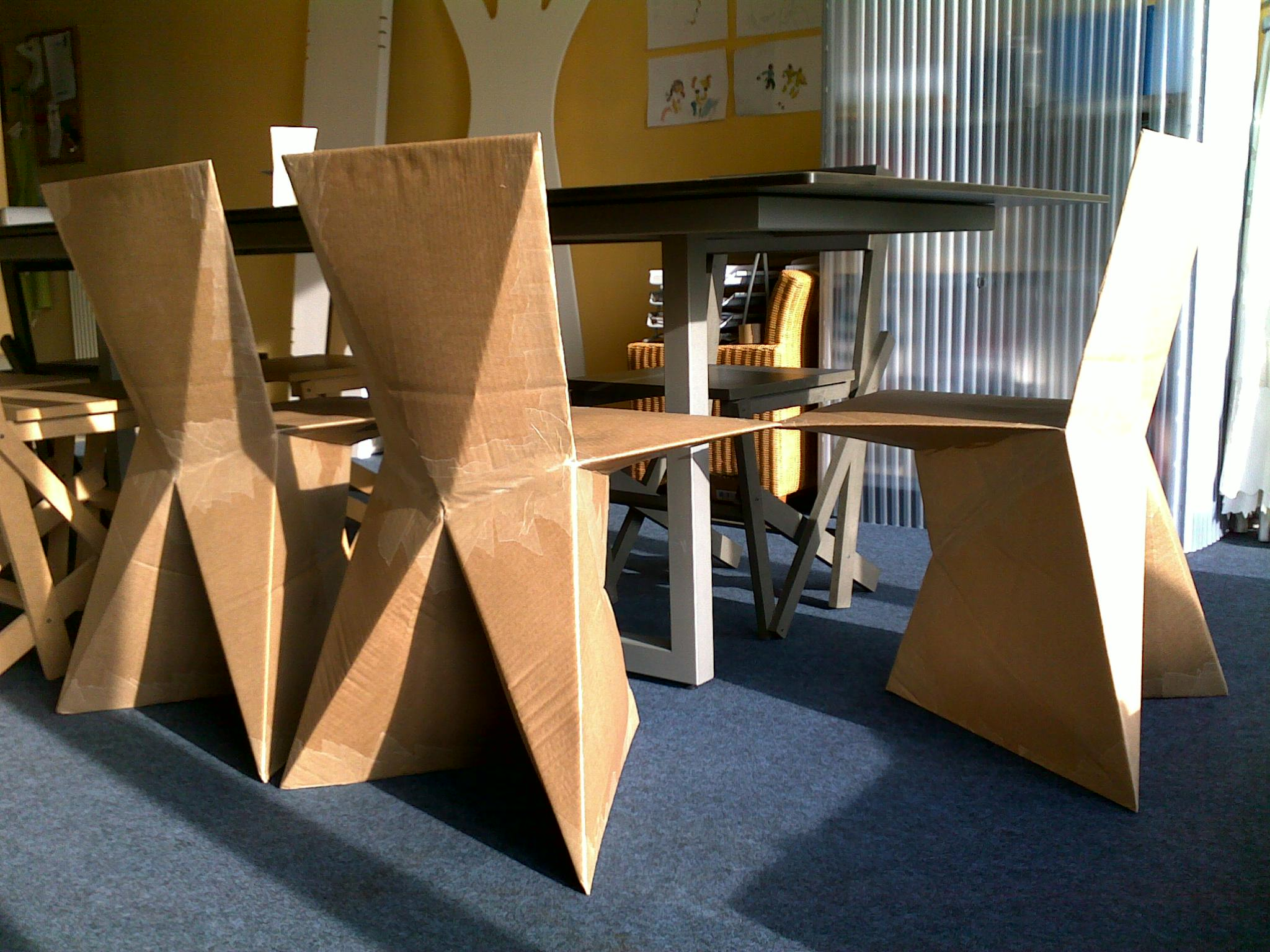 How To Make A Cardboard Chair Cardboard Furniture Plans Pdf Plans Free Download