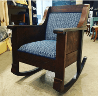 Vintage rocker in fabric by Greenhouse