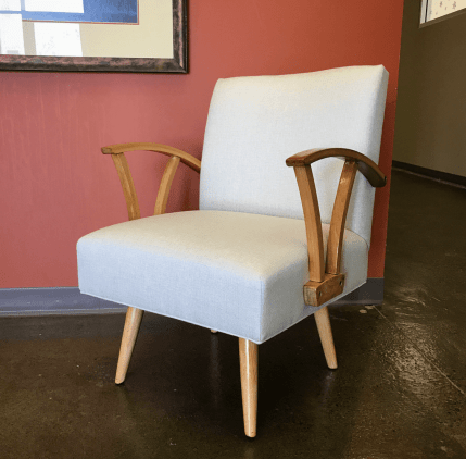 Midcentury rocker in fabric by Barrow