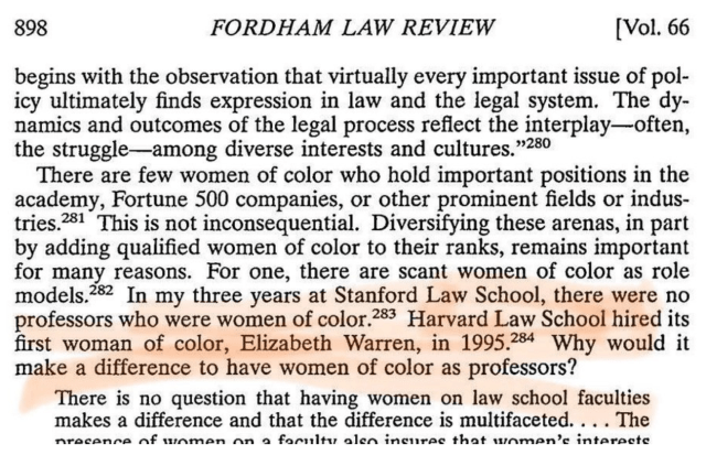 Warren First Woman of Color