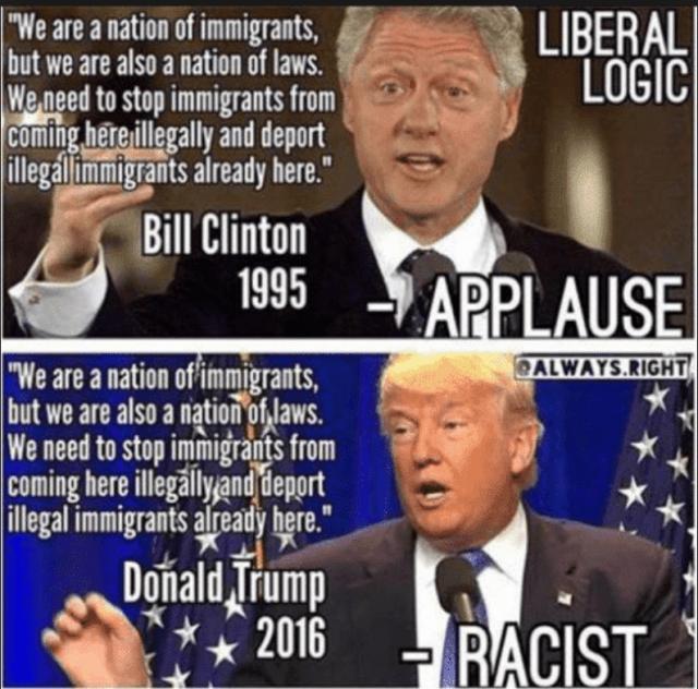 Bill Clinton Donald Trump Immigration 2