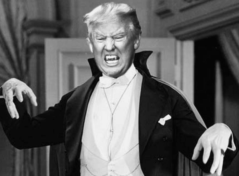 Trump as vampire