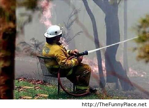 Funny Quotes And Wallpapers Funny Fireman Image Thefunnyplace