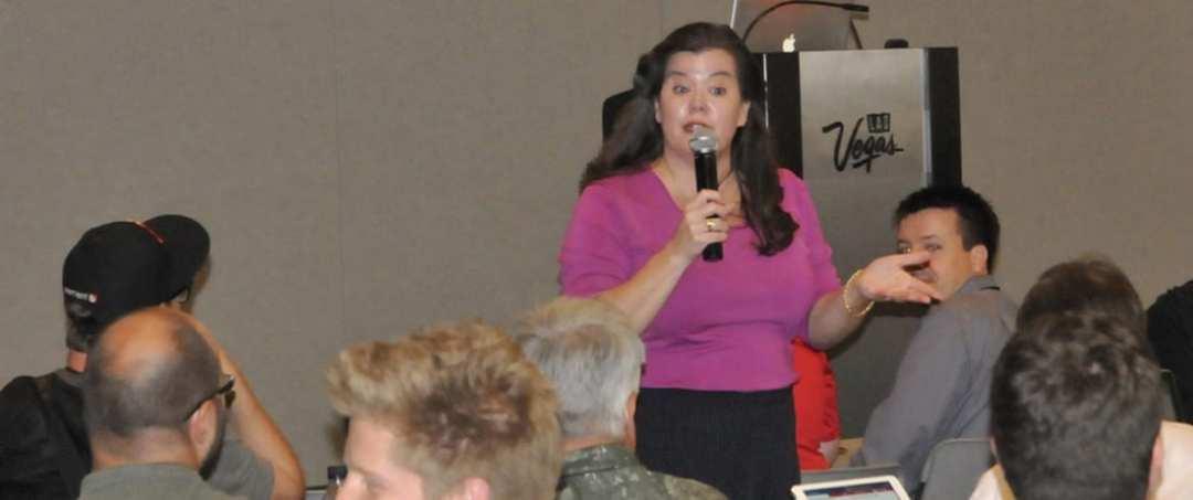 Liz Daley giving a Seminar