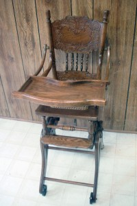 highchair refinished