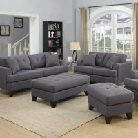 Gray Sofa Set Homelegance Ashmont Sofa Set Dark Grey Linen ...