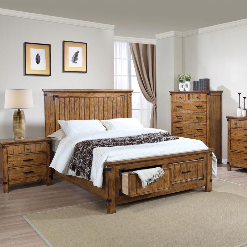 Rustic Honey Bedroom Set Discount Furniture Portland