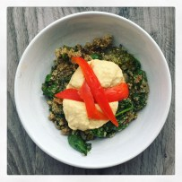 Broccoli Hummus Quinoa Bowl