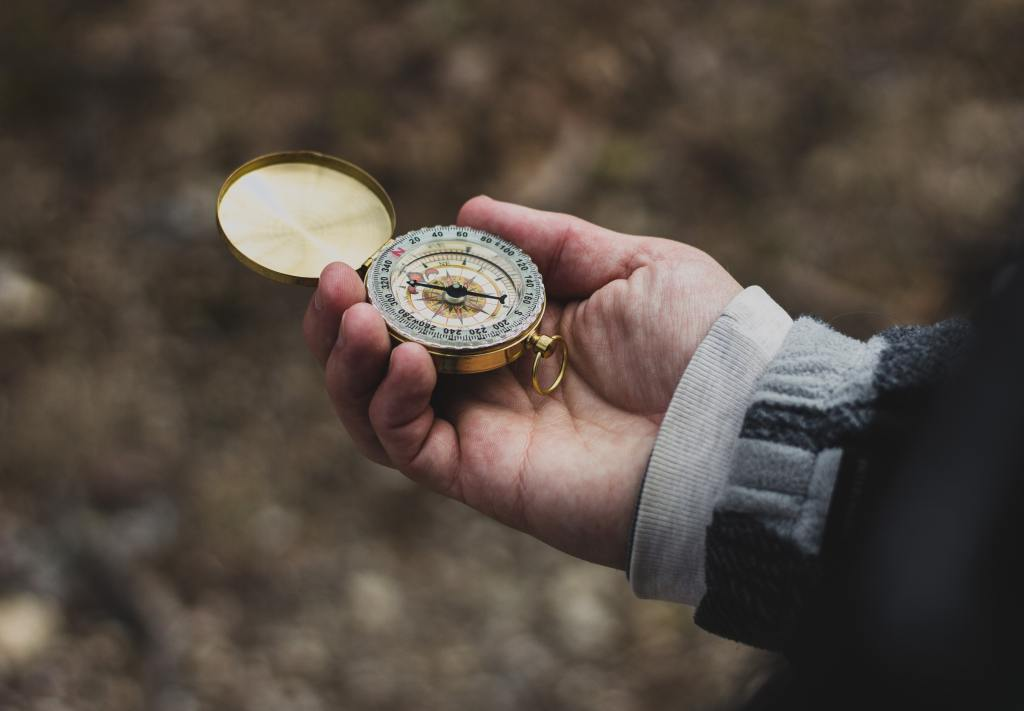 Using a compass to head in a new direction