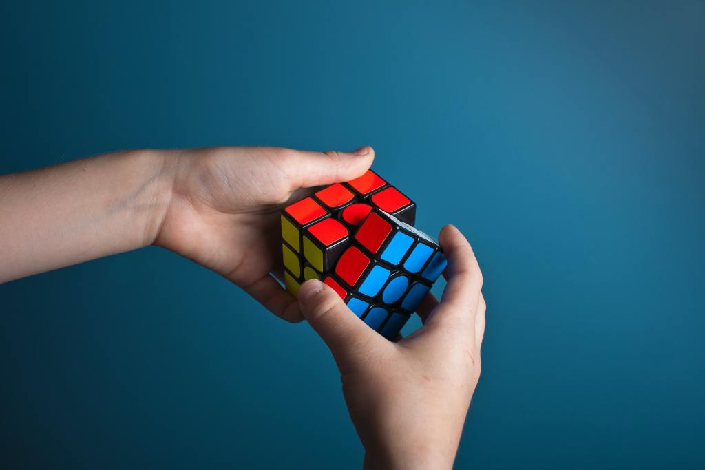 rubix cube shows be a problem solver