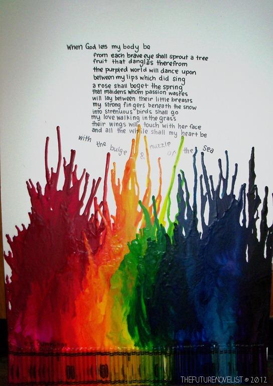 my take on crayon art  the future novelist