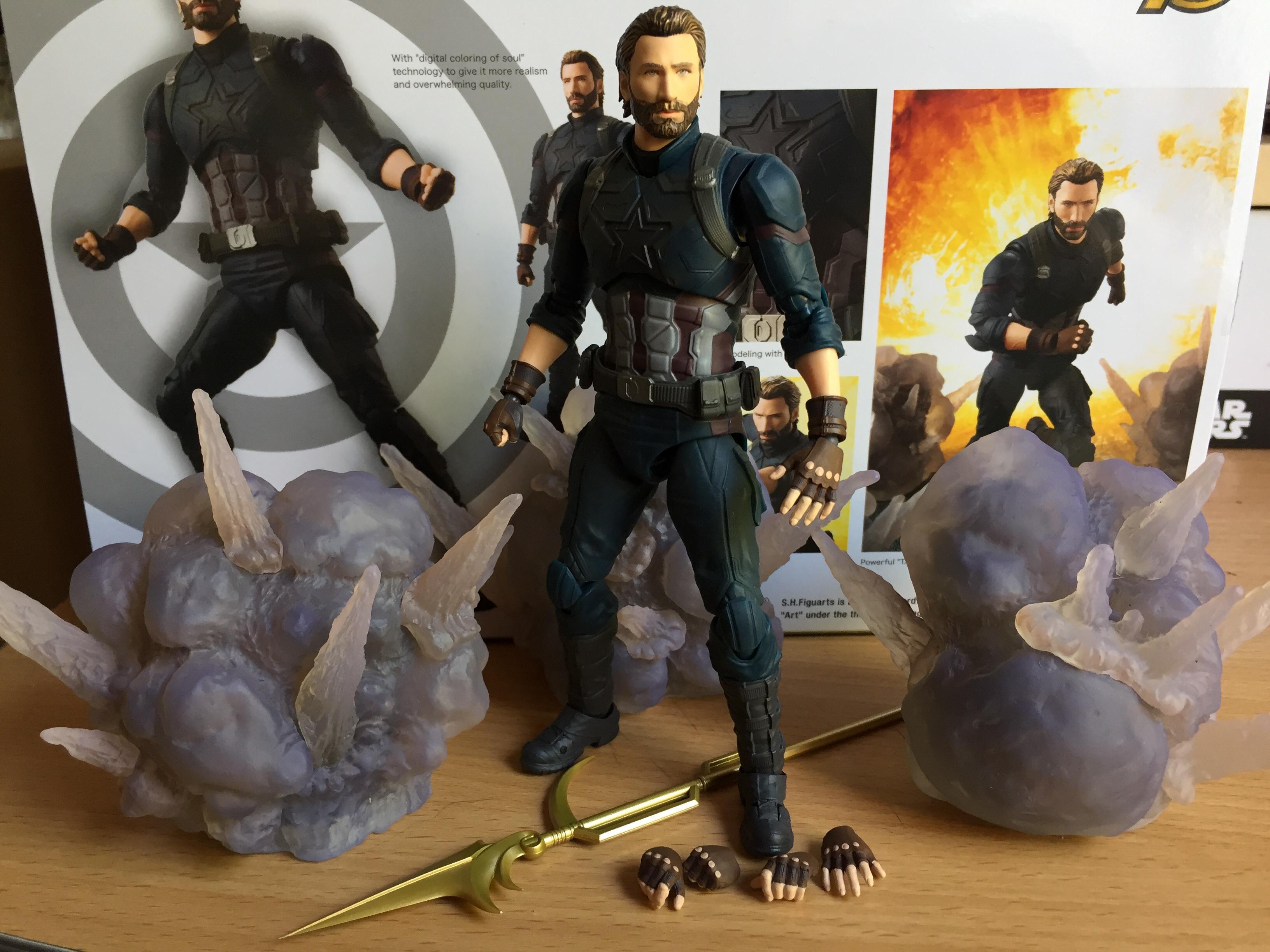 Figuarts Captain America /& Tamashii Effet Explosion infinity war Bandai S.H