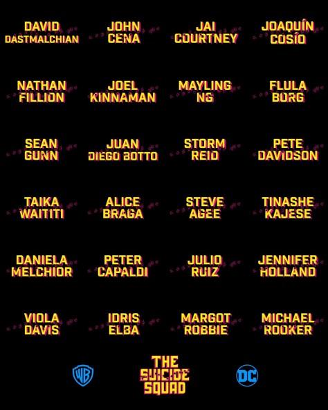 James Gunn Reveals Full Cast List for The Suicide Squad