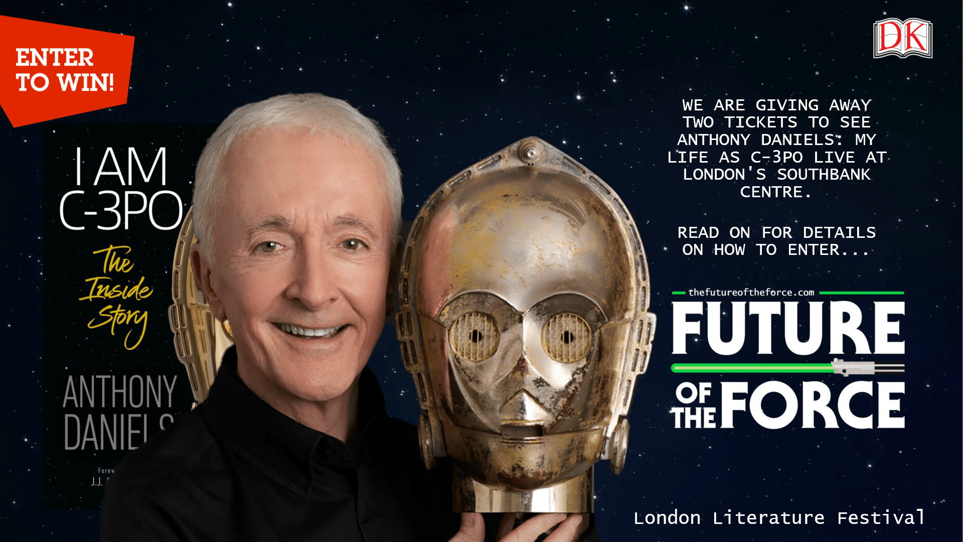 Win Tickets to See Anthony Daniels: My Life as C-3PO LIVE!
