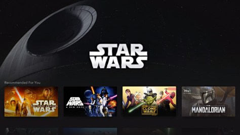 Star Wars Content on Disney Plus