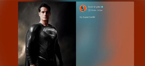 Justice League Black Suit Superman Vero