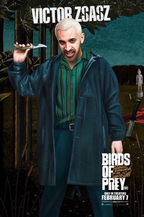 Victor Zsasz Birds Of Prey Poster