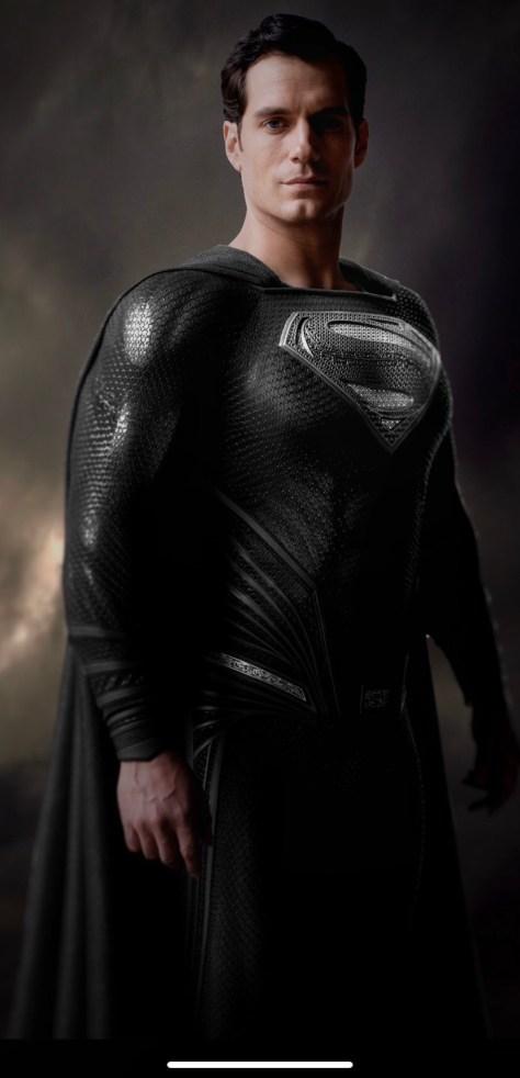 Henry Cavill Black Suit Superman Justice League Snyder Cut
