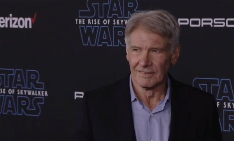 Harrison Ford at The Rise Of Skywalker Premiere