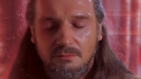 Quin-Gon Jinn Meditates in Star Wars The Phantom menace