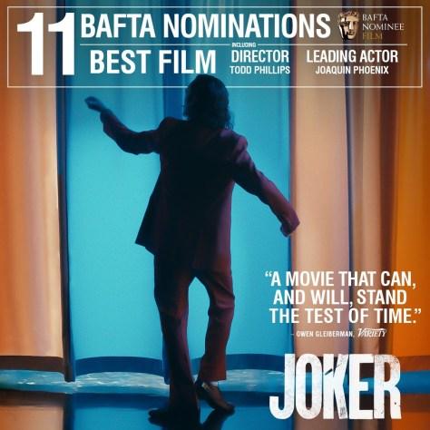 JOKER Nominated for Eleven BAFTA's