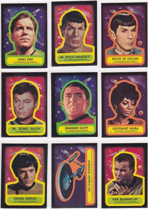 Star Trek: The Original Topps Trading Cards Series Stickers