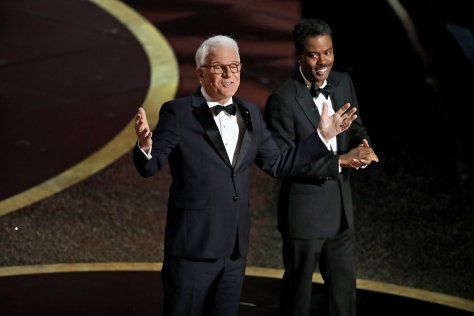 Chris Rock and Steve Martin at the Oscars 2020