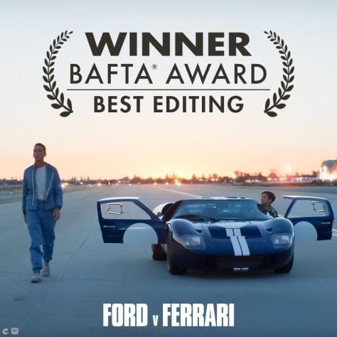 BAFTAS Ford V Ferrari Wins Best Editing