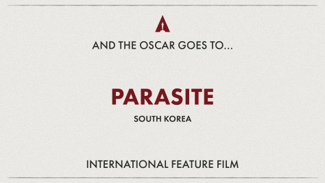 Best International Feature Film: Parasite ( South Korea) Oscars 2020