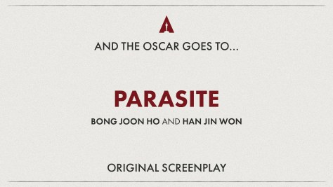 Best Original Screenplay: Parasite- Oscars 2020