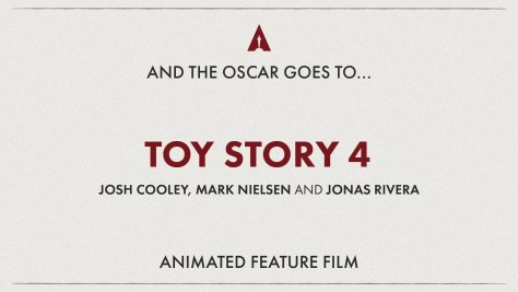 Best Animated Feature: Toy Story 4 - Oscars 2020