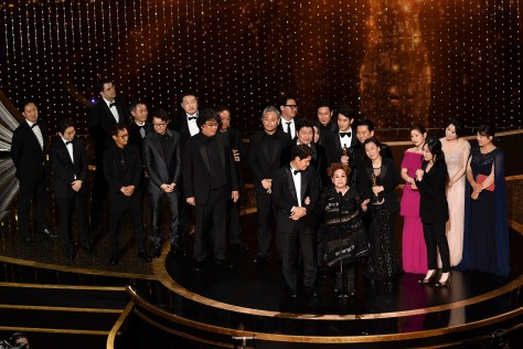 Parasite Cast and Crew at the Oscars