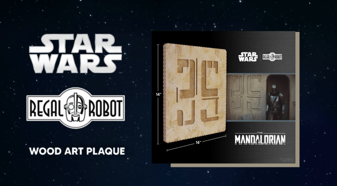 Mando Mondays | 'The Mandalorian' Docking Bay 35 Wood Art Plaque From Regal Robot