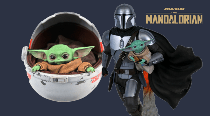 The Mandalorian and The Child Statues by Gentle Giant