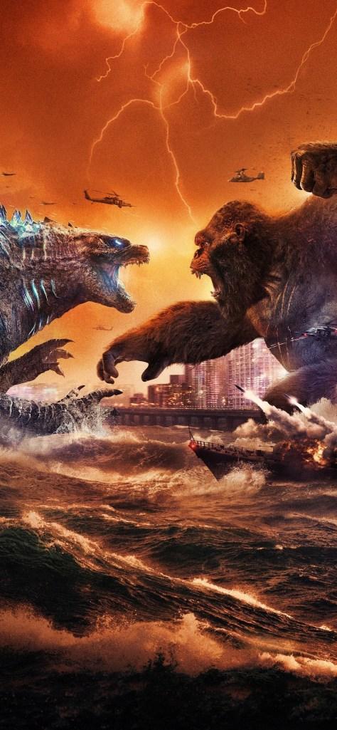 Godzilla vs Kong Textless Poster 003