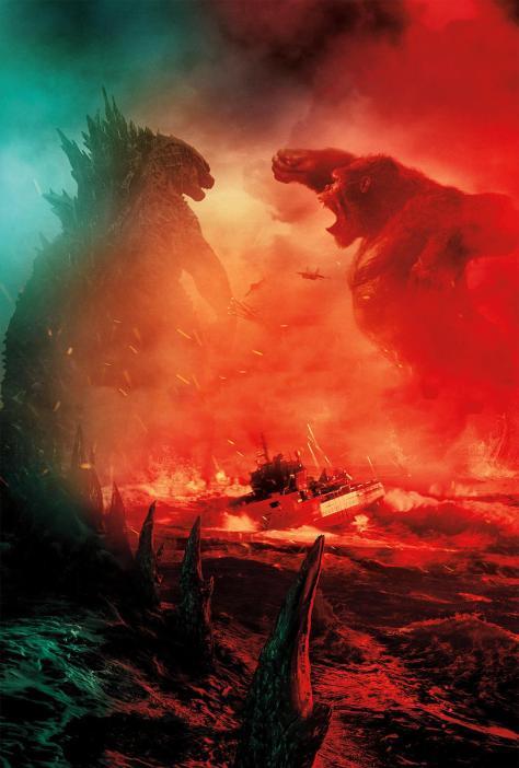 Godzilla vs Kong Textless Poster