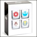 Star Wars Glasses Set of 4 Classic Logos