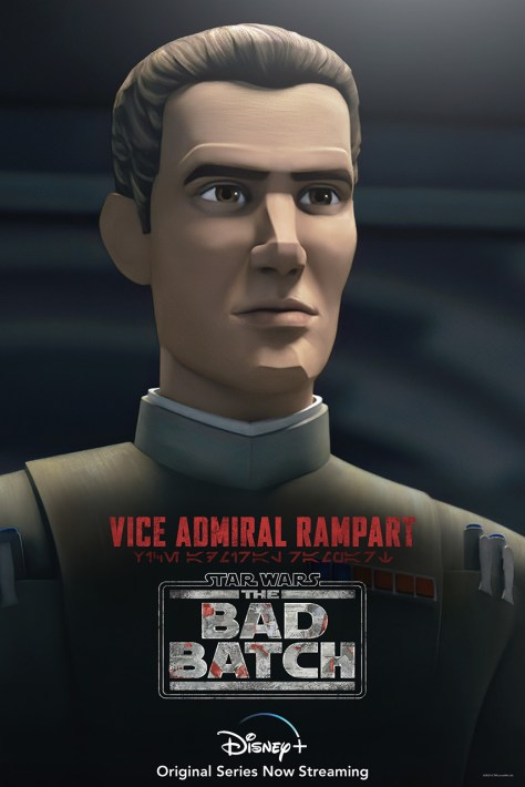 The Bad Batch Vice Admiral Rampart Character Poster