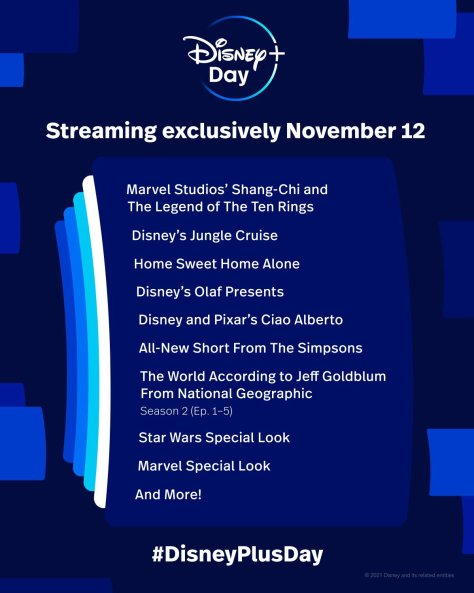 Disney Plus Day Line-Up