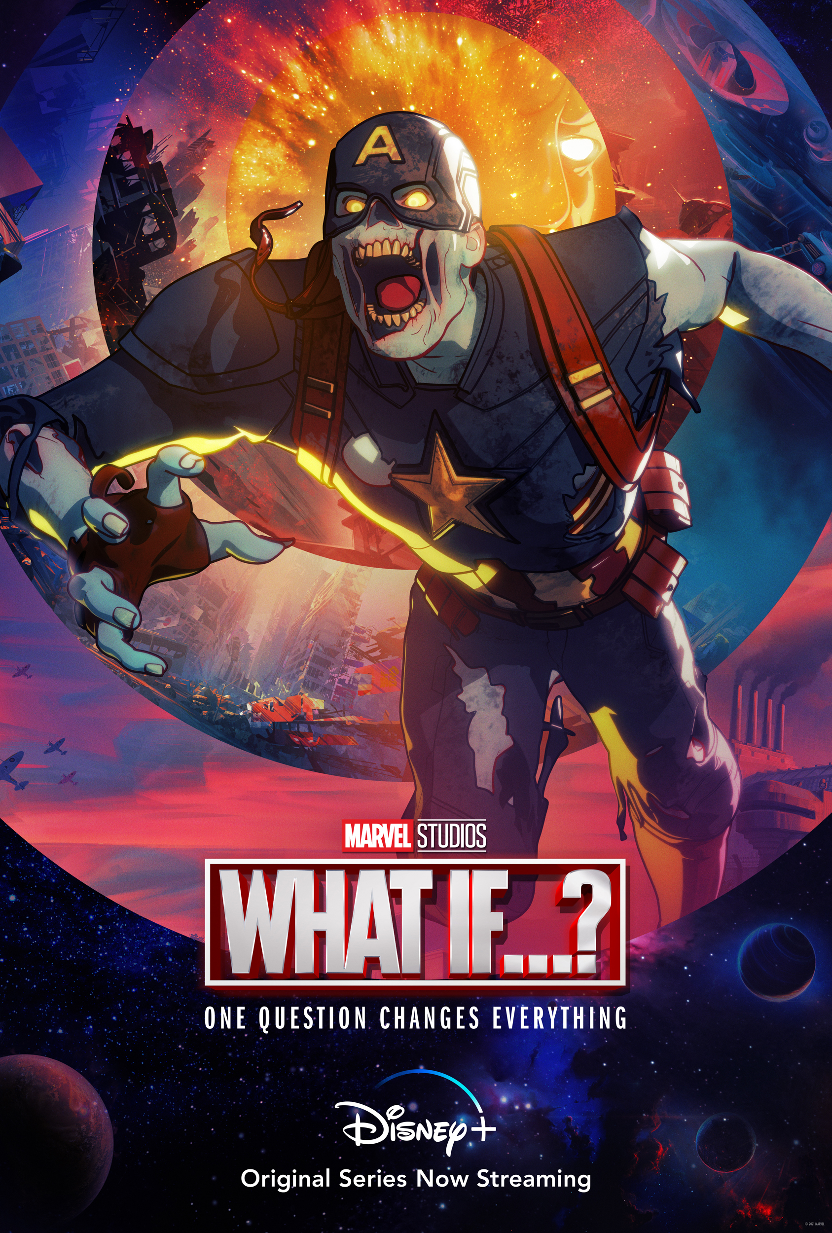What If Zombie Captain America Poster
