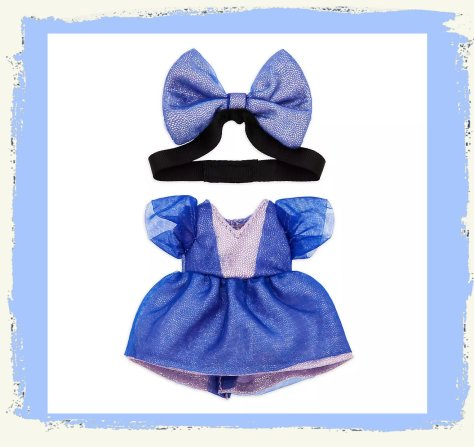 Disney Store nuiMOs Small Soft Toy Celebration Dress With Blue Bow