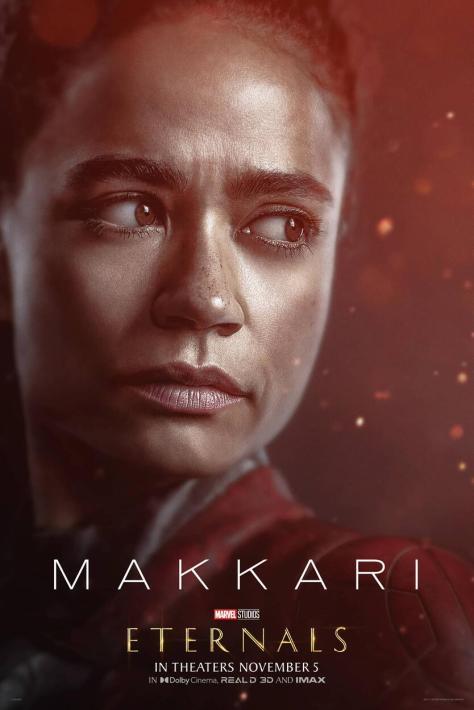 Eternals Character Poster Laren Ridloff as Makkari