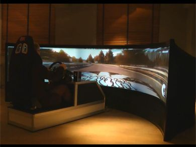 Drive a Formula 1 on a 160 inch Curved Screen  TFOT