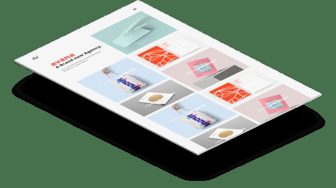 Avana | Минималистичный шаблон портфолио сделанный на Bootstrap