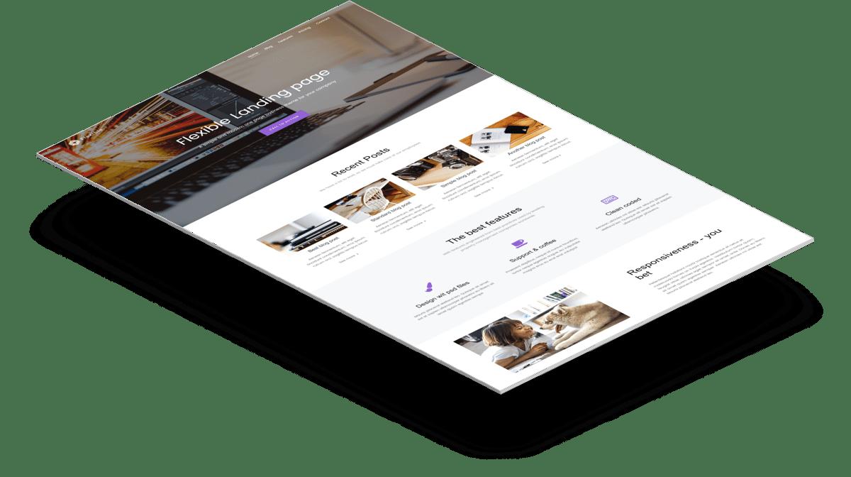 Flexible   Бесплатный Bootstrap шаблон