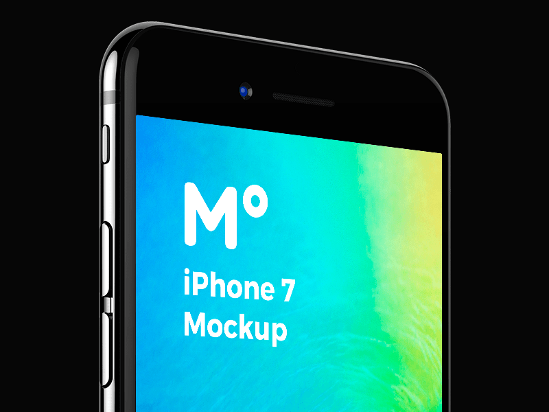 FREE iPhone 7 Jet Black mockup