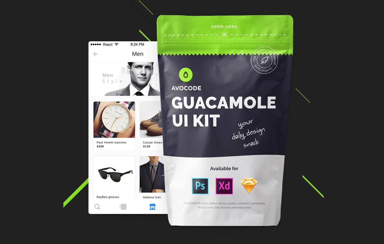 Guacamole | Бесплатный UI набор для современного дизайнера со вкусом