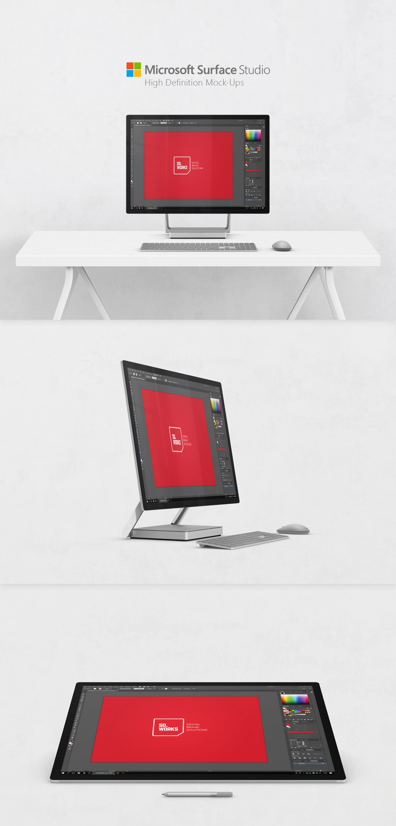 Free Microsoft Surface Studio Mock-Ups